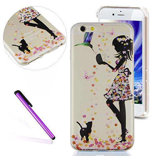 Fairies Fancy Dress (iPhone 6S Plus Case,iPhone 6 Plus Case LEECO Ultra Thin Clear Soft TPU Fairy Flower Butterfly Flexible Slim Skin Soft Cover for Apple iPhone 6 / 6S Plus 5.5 inch,Fancy Dress Girl)