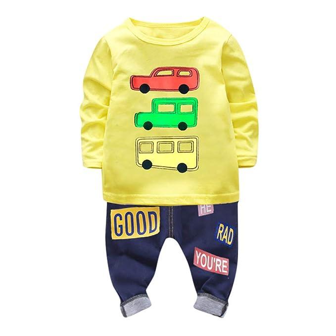 2c158842b ❤ Amlaiworld Camiseta Estampada Carros con Mangas largas para niño Bebé  Tops Sudadera Pullover + Pantalones Conjunto de Ropa de niños  Amazon.es   Ropa y ...