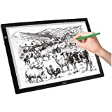 Adesso CyberPad P2 12'' x 7'' LED Artcraft Tracing Light Pad/Box Artists Drawing Sketching X-ray Viewing Black