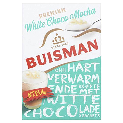 - Instant Coffee Packets | Buisman | Premium White Choco Mocha 8 Sachets | Total Weight 4.23 ounce