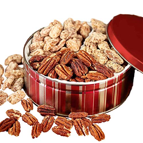 (Savannah Candy Kitchen   Sweet & Salty Nut Tin   Praline, Cinnamon, and Roasted & Salted Pecan Gift Tin - 18oz)