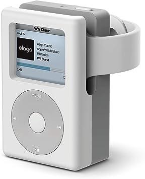 【elago】 Apple Watch 対応 充電 スタンド シリコン 充電ドック アクセサリー ノスタルジック レトロデザイン [ AppleWatch SE & Series6 Series5 Series4 40mm / 44mm & Series3 Series2 series1 38mm / 42mm アップルウォッチ 各種 対応 ] W6 STAND ホワイト