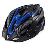 Generic Cycling Bicycle Adult Bike Safe Helmet Carbon Hat With Visor 19 Holes blue