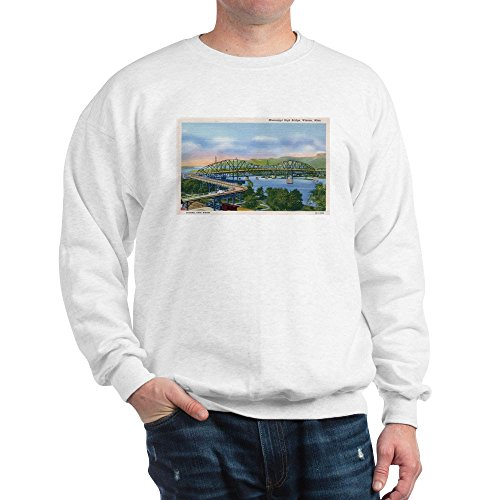 CafePress - Mississippi River High Bridge At Winona - Classic Crew Neck Sweatshirt
