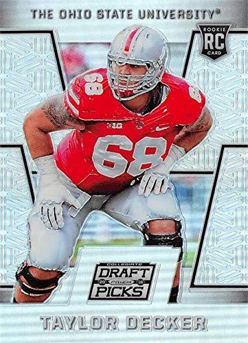 Taylor Decker football card (Ohio State Buckeyes) 2016 Panini Prizm Draft Rookie Refractor #232