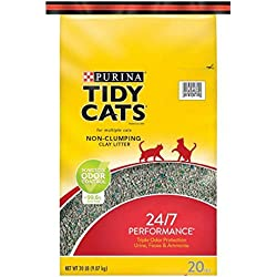 Purina Tidy Cats Non-Clumping Clay Litter For Multiple Cats 24/7 Performance, 20lb.-2counts