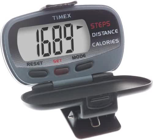 unisex Timex T5E011Pedometer Track Steps/Distance Slvr Case