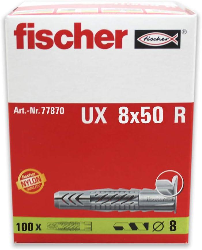 Fischer 094721 Envase de 100 ud. Taco nylon UX 5x30