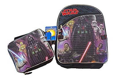"""Star Wars Original Characters 16"""" Kids Backpack and Matching Lunch Box Combo"""