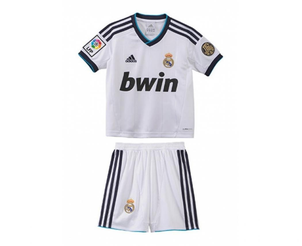 Real Madrid Boys Home Football Kit 2012 13