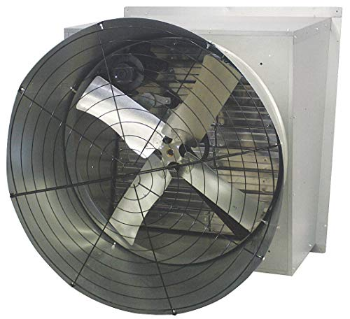 Agricultural Exhaust Fan - 115/230V Cone, Belt-Drive Agricultural Exhaust Fan, 3/4HP