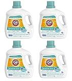 Arm & Hammer Plus Skin-Friendly Fresh Scent Detergent, 107 Loads, 160.5 Fl Oz (Pack of 4)