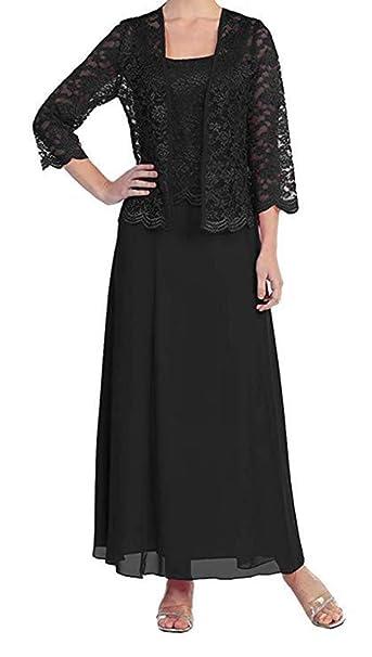 tutu.vivi Women\'s Lace Plus Size Mother of The Bride Dress with Jacket Tea  Length