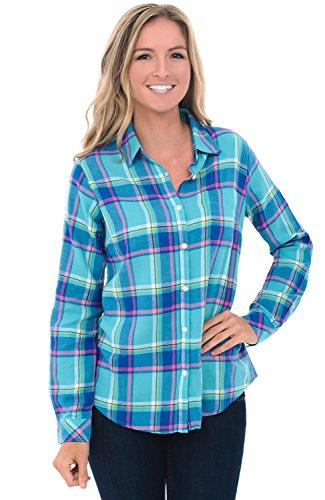 9a2f8e5f5b76 Alexander Del Rossa Womens Flannel Shirt