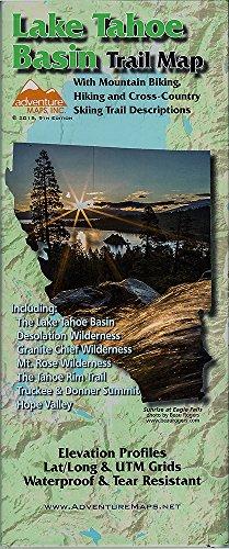 Map- Lake Tahoe Basin Hiking and Biking