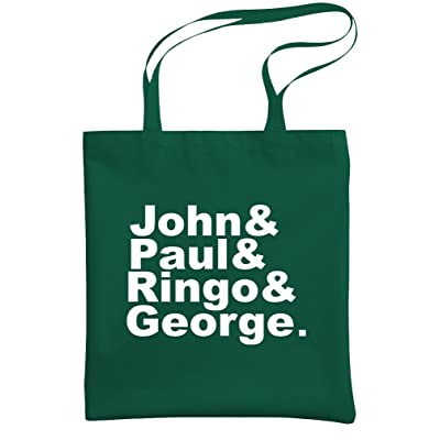 - JOHN & PAUL & RINGO & GEORGE - tribute - Heavy Duty Tote Bag, Forest