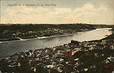 Maysville & Aberdeen on Ohio River Maysville, Kentucky Original Vintage Postcard