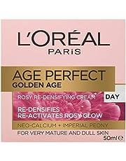 L'Oréal Paris Golden Age Rosy Day Moisturiser for Mature Skin, with Neo-Calcium, 50ml