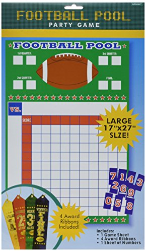 Super Bowl Party Games - Football Pool w/Ribbons, Party Game