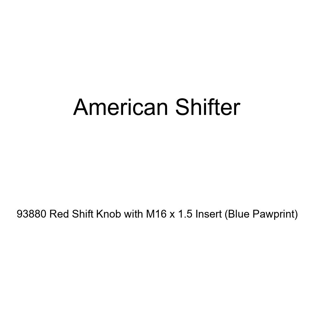 Blue Pawprint American Shifter 93880 Red Shift Knob with M16 x 1.5 Insert