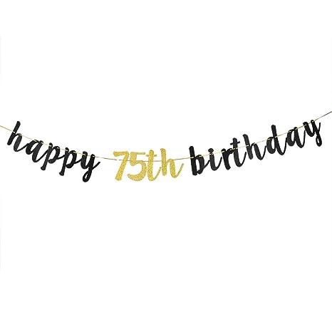 Amazon.com: Pancarta de feliz cumpleaños con purpurina ...