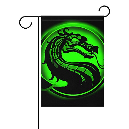 Deception 4 Costumes (Home Polyester Fabric Garden Flags, Dragon Print Mildew Resistant Custom Waterproof Outdoor Flag, 28