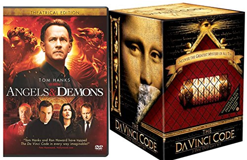 Tom Hanks The Da Vinci Code Box Set DVD Angels And Demons Double Feature Movie Working Cryptex Replica More