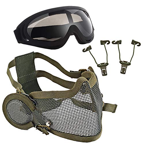 Collection Here High Quality Hunting Tactical Paintball Goggles Eyewear Steel Wire Mesh Airsoft Net Glasses Shock Resistance Eye Game Protector Attractive And Durable Camping & Hiking