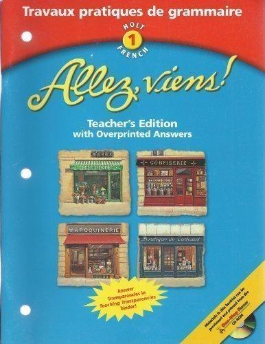 Allez Viens! - Teachers Edition: Level 1 Travaux Pratiques De Grammaire (French Edition)