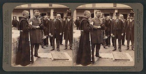 Photo: Reproduction,President Theodore Roosevelt,Franciscan Fathers,Santa - Santa Shopping Barbara Ca