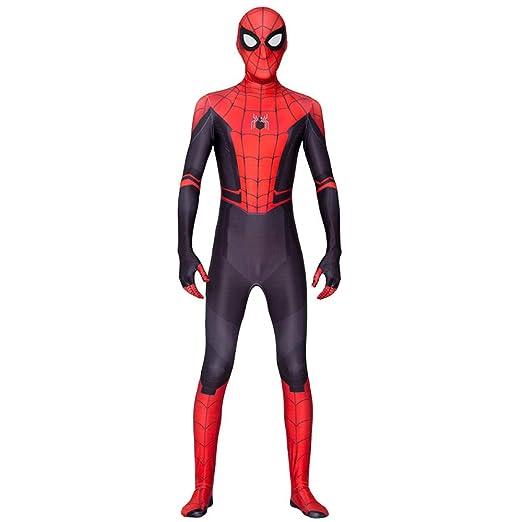 KOUYNHK Adulto Niños Nuevo Hombre Araña Lejos De Casa Cosplay Zentai Spiderman Superhero Body Traje Spandex por Encargo,Child-M