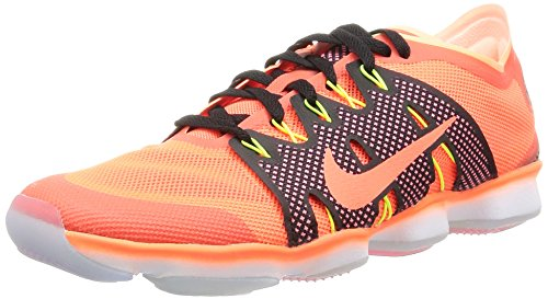 Nike Womens air Zoom fit Agility 2 Running Trainers 806472 Sneakers Shoes (US 7.5, Hyper Orange Sunset Glow - Nike Zoom Huarache