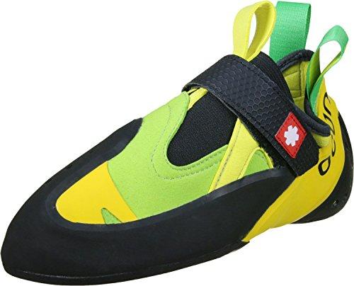Ocun Oxi QC Zapatos de escalada negro verde amarillo