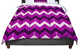 KESS InHouse Nick Atkinson ''Chevron Dance Purple'' Queen Comforter, 88'' X 88''
