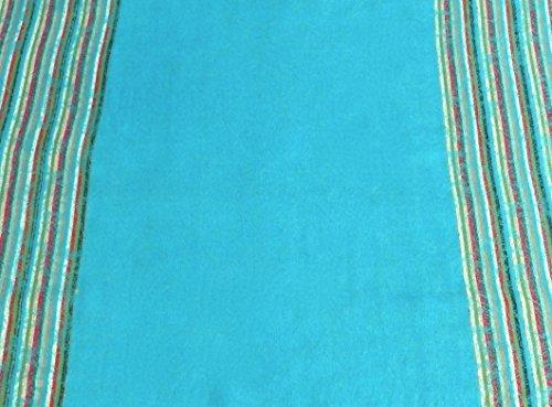 Turquoise Moire Design Pashmina Shawl Scarf Wrap Stole Pashminas Seconds NEW
