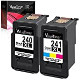 Valuetoner Remanufactured Ink Cartridge Replacement for Canon PG-240XL CL-241XL High Yield 5206B005 5206B001 5208B001 for Pixma MG3620 MX432 MX532 MG3520 MX452 MX512 (1 Black, 1 Color, 2 Pack)