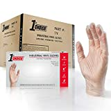 1st Choice Clear Vinyl 3 Mil Thick Disposable Gloves, Medium, Case of 1000 - Industrial Grade, Latex-Free