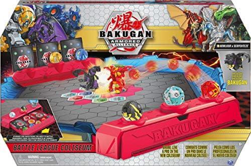 Bakugan Battle League Coliseum Deluxe spelbord met exclusieve Fused Howlkor x Serpenteze Bakugan voor leeftijden 6 en hoger