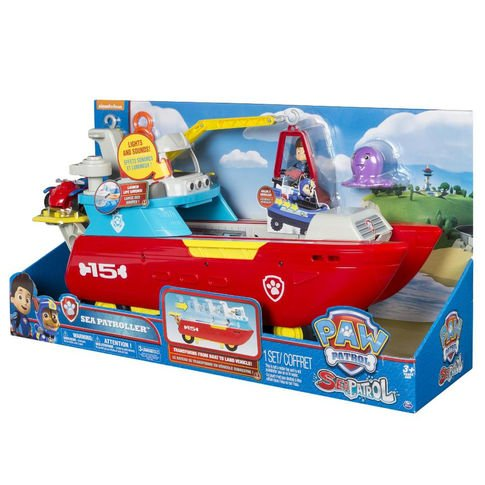 Paw Patrol   The Lookout Playset With  Sea Patroller Transforming Vehicle With Lights And Sounds