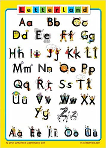amazon class alphabet poster straight letters letterland lyn