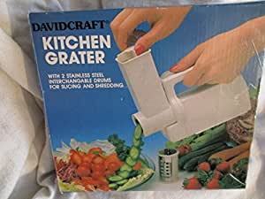 Davidcraft Battery Operated Handheld Kitchen Grater for Slicing and Shredding