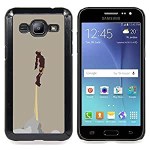 "Qstar Arte & diseño plástico duro Fundas Cover Cubre Hard Case Cover para Samsung Galaxy J2 / J200 (Hierro Superhero"")"