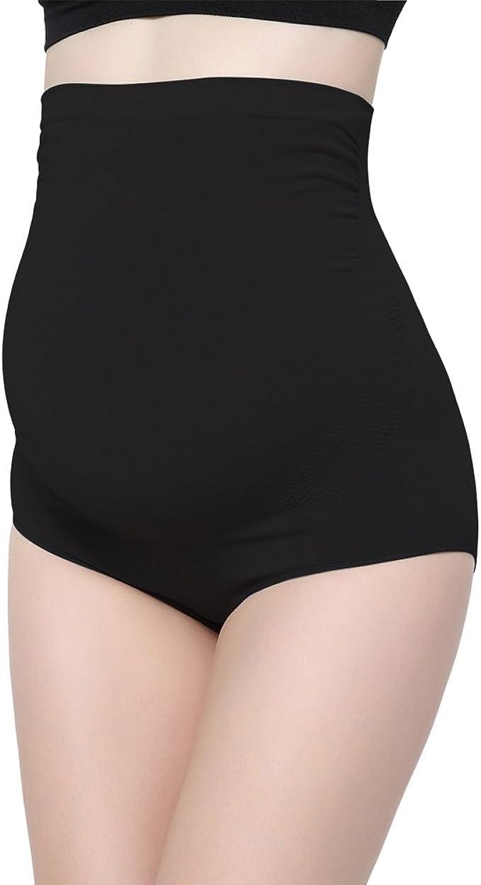 ZUMIY Maternity Panties Bamboo Fiber, Women's Maternity Underwear High-Waist Over Bump Pregnancy Support Briefs: Amazon.co.uk: Clothing