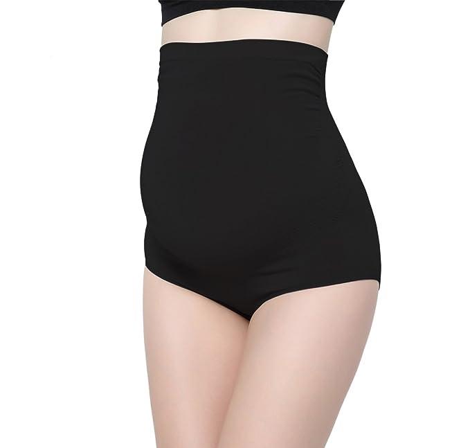8ee5be9beb8e0 ZUMIY Women's Maternity Underwear High- Waist Bamboo Fiber Over Bump  Underwear Support Briefs (M