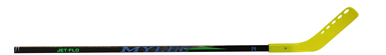 53 Right Mylec Jet-Flo Hockey Stick Neon Yellow