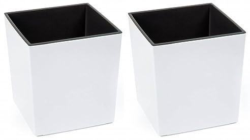 2 Stück KREHER XXL Design Pflanzkübel aus Kunststoff in Hochglanz ...