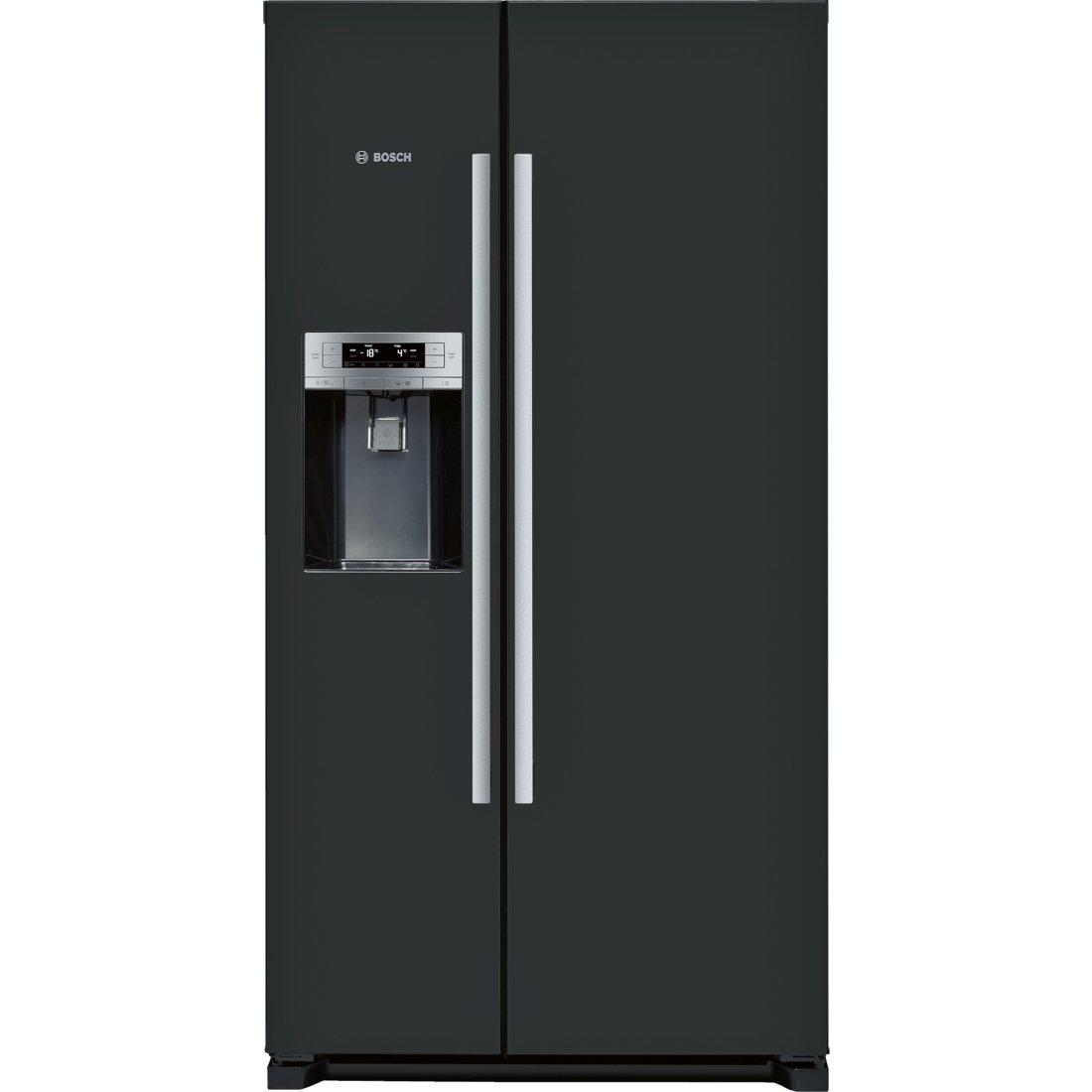 Bosch Serie 6 KAD90VB20 - Frigorifero side-by-side, indipendente, porta americana, classe climatica SN/T, A+, LED, colore: Nero