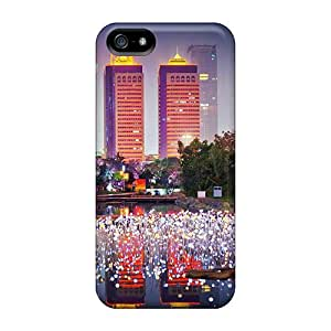 Pretty Tia7785Tlej Iphone 5/5s Cases Covers/ City In Light Series High Quality Cases
