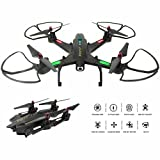 Kidcia Drone with Camera Live Video FPV WiFi Drones RC Quadcopter Headless Altitude Hold 2.4G 4CH 6 Axis Remote Control Foldable Helicopter One Key Return Gravity Sensor