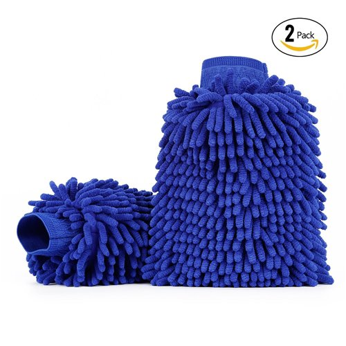 car-wash-mitts-2-pack-itavah-premium-microfiber-chenille-super-absorbent-wash-and-wax-glove-blue